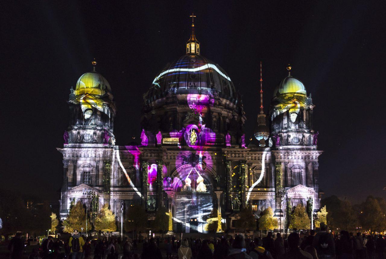Tina Zimmermann: Videomapping am Berliner Dom