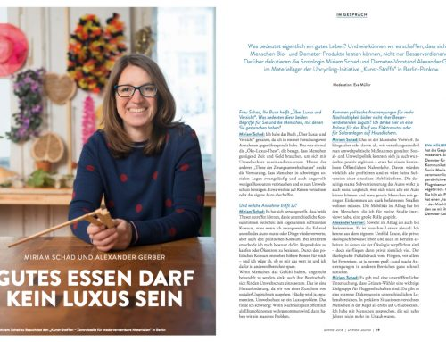 Interviewfotos für das Demeter-Journal