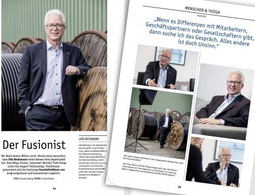 Interviewfotos für das Thüga-Magazin