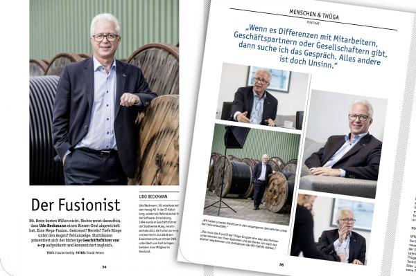 Herr Beckmann, Geschäftsführer der e-rp in Alzey. Foto: ffpeters.de